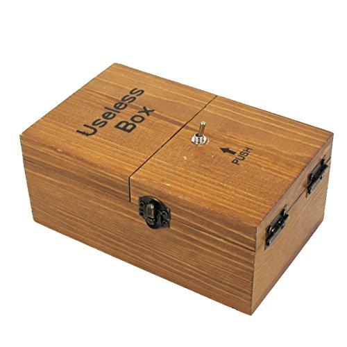 ARETOP® Boîte Inutile S'éteint Tout Seul Entièrement Assemblé Surprise Cadeau pour Anniversaire Fête Bois