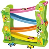 Viga Wooden Jungle Zig Zag Car Slider Click Clack Racetrack #59610
