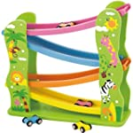 Viga Wooden Jungle Zig Zag Car Slider...