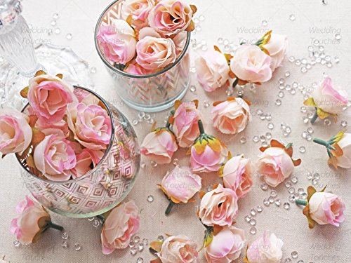 50pcs-light-pink-rose-bud-decorative-synthetic-flowers-faux-silk-mini-rose-buds