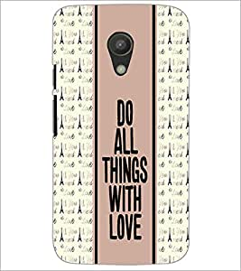 PrintDhaba Quote D-3833 Back Case Cover for MOTOROLA MOTO G2 (Multi-Coloured)