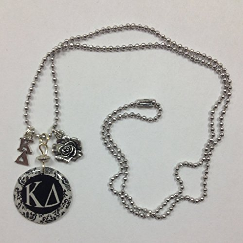 kappa-delta-sorority-greek-elegant-charm-necklace-kd-lavaliere-rose-mascot-charm-pendant-on-a-24-inc