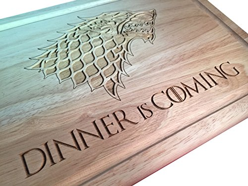 Game Of Thrones ispirato Dinner Is Coming tagliere di legno