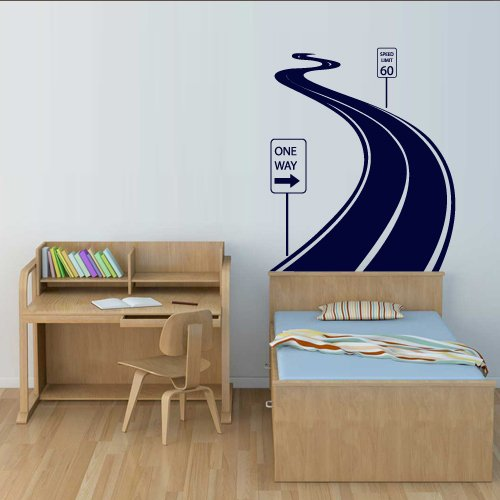 Wall Decal Vinyl Sticker Decals Art Decor Design Road Track Car Band Traffic Sign Nursery Kids Gift (M1424)