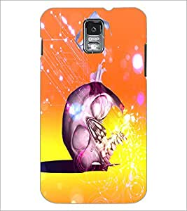 PrintDhaba Skull D-4866 Back Case Cover for SAMSUNG GALAXY S5 (Multi-Coloured)