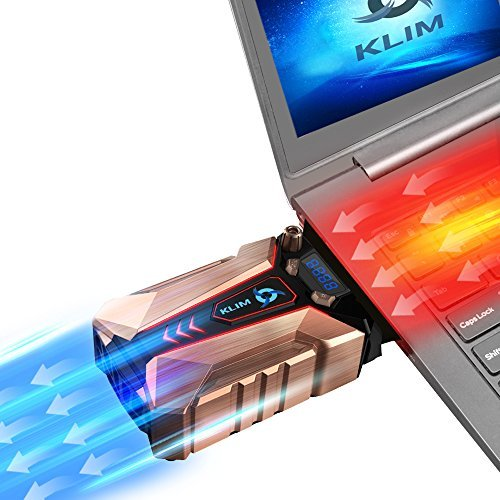 ??Klim Cool + Metal Laptop Cooler Fan - The Most Powerful Gaming External Air Vacuum - Computer USB for Immediate Cooling - Slim - Portable - Quiet - Cooling Pad to Solve Internal Overheating