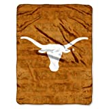 NCAA Texas Longhorns 46-Inch-by-60-Inch Micro-Raschel Blanket, Grunge Design