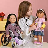 """Today's Girl """"Doctor Your 18"""" Doll"""" 7 pc. Playset with Child-size Lab Coat and Stethoscope"""