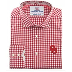 Oklahoma University Plaid Crimson Mens Shirt by Oklahoma University Sooners