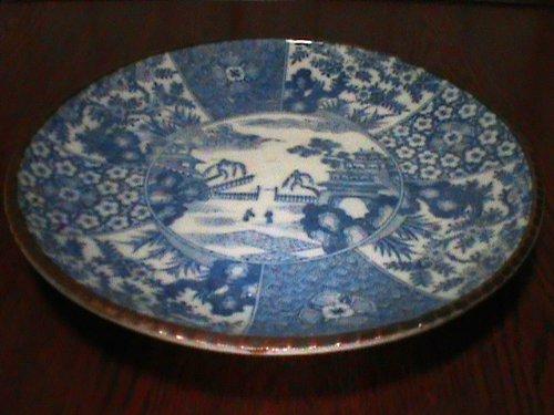 Genroku Era / Edo Period Nabeshima Blue Underglaze Porcelain Platter