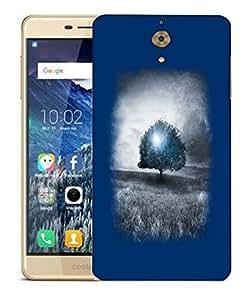 Snoogg Blue Tree Designer Protective Back Case Cover For COOLPAD MEGA 2.5 D
