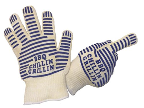 Bbq Gloves Close Out Sale On 188 Pairs Because Of Misprint Of Brand Name, C Instead Of G In Grillin- Withstands Heat Up To 662°F-Best High Heat And Fire Resistant Nomex-Made With This Space Age Material-Best For Grilling, Kitchen Ovens, Stoves, Microwaves