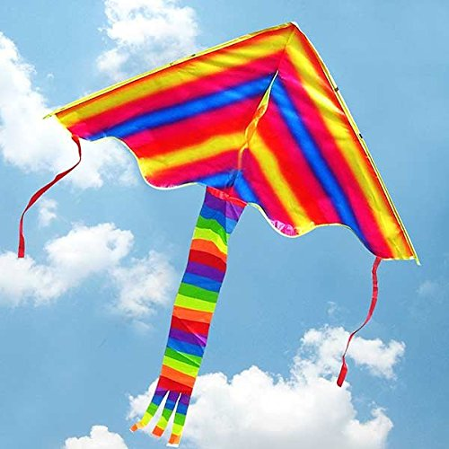 Apollo-Sporting-Colorful-rainbow-kite-cerf-volant-triangulaire-moderne-pour-les-enfants