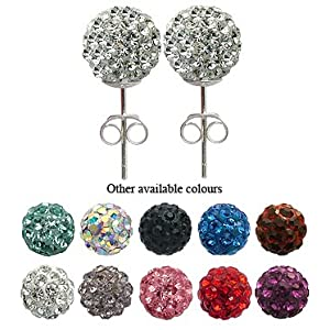 Crystal Silver Stud Earrings/Pendants by GlitZ JewelZ © - bling bling!! - big range of colors - choose one pair of earrings (6MM or 8MM) or a pendant from the menu below - you can make up the set by buying both the earrings & pendant