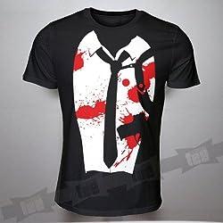 Reservoir Dogs Tshirt Costume Funny Fancy Dress Blood Black Unisex Halloween
