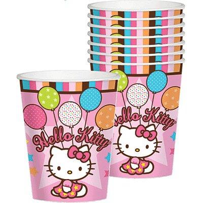 Imagen de Amscan Hello Kitty Sueños en globo de 9 onzas vasos de papel, 8-Conde