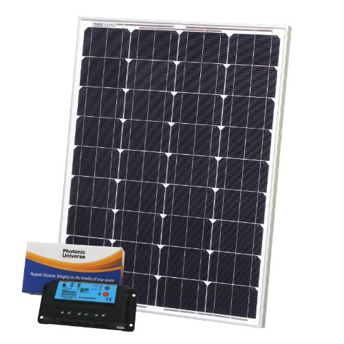 80W 12V Photonic Universe solar charging kit with 10A controller and 5m cable for a camper Black Friday & Cyber Monday 2014