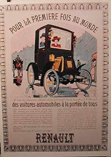 """Renault per La prima volta nel mondo, 50 x 70 Cm, soggetto: Poster, Poster """""""