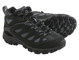 Merrell Men\'s Pulsate Mid Waterproof Hiking Boot,Black/Castle Rock,11.5 M US