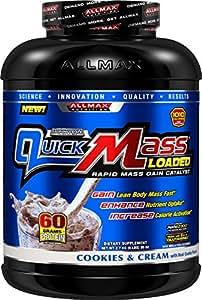 AllMax Nutrition - Quick Mass Cookies & Cream, 6 lb powder