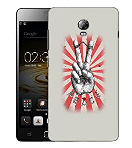 Snoogg Peace Designer Protective Back Case Cover For LENOVO P1 TURBO