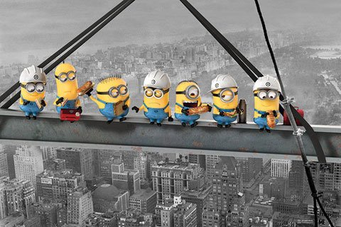 Despicable Me - Poster - Minions Lunch on a Skyscraper + Ü-Poster