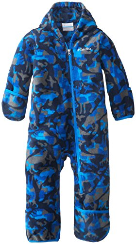 Columbia Baby-Boys Infant Snowtop Ii Bunting, Hyper Blue Critter, 18/24 Months front-484241