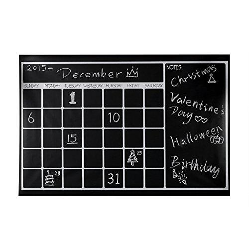 Chalkboard Calendar Organizer : Large monthly chalkboard calendar wall planner quot x