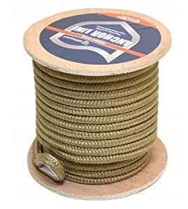 Buy Attwood 117590-1 Gold 1 2 Inch x 150 Foot Braided Nylon Boat Anchor Line w  Thimble by attwood