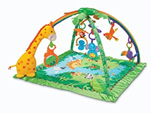 Fisher-Price Rainforest Melodies and Lights Deluxe Gym (Discontinued by Manufacturer)