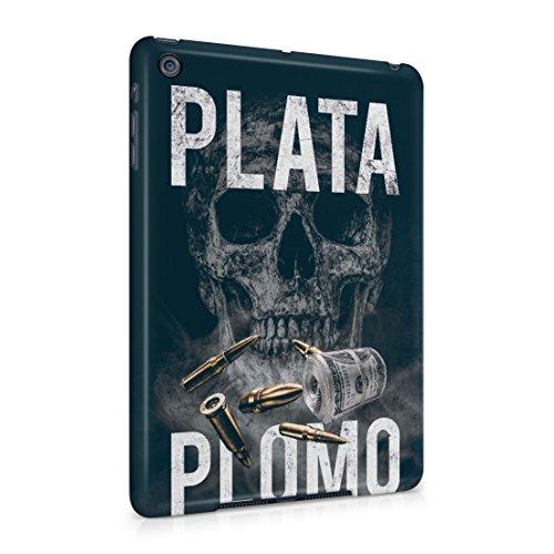 Narcos Plata Plomo Skull, Cash Roll & Bullets Apple iPad Mini Hard Plastic Case Cover