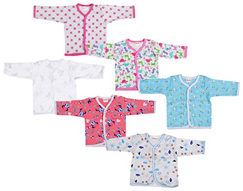 First Step Baby Full Sleeve Front Open Shirts (Set of 6)(L-11inches,B-9inches)