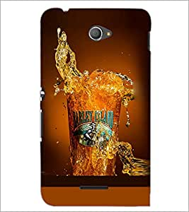 PrintDhaba Beer Glass D-2086 Back Case Cover for SONY XPERIA E4 (Multi-Coloured)