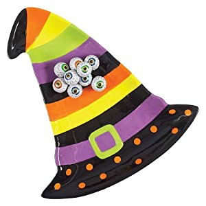 Boston Warehouse Witchs Brew Witch Hat Shaped Platter
