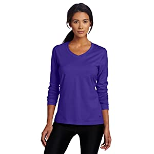 Champion Women's Favorite Long Sleeve Tee, Sapphire, Medium