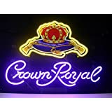 LDGJ Crown Royal Real Glass Neon Light Sign Home Beer Bar Pub Recreation Room Game Lights Windows Garage Wall Signs