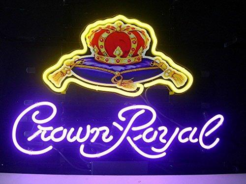 LDGJ Crown Royal Real Glass Neon Light Sign Home Beer Bar Pub Recreation Room Game Lights Windows Garage Wall Signs