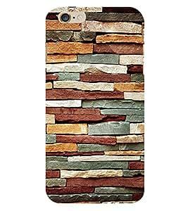 Bricks Pattern 3D Hard Polycarbonate Designer Back Case Cover for Apple iPhone 6S