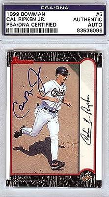 Cal Ripken, Jr. Baltimore Orioles Autographed 1999 Bowman Card #5 - PSA/DNA Authentic