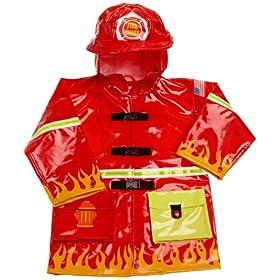 Kidorable Toddler/Little Kid Fireman Rain Coat