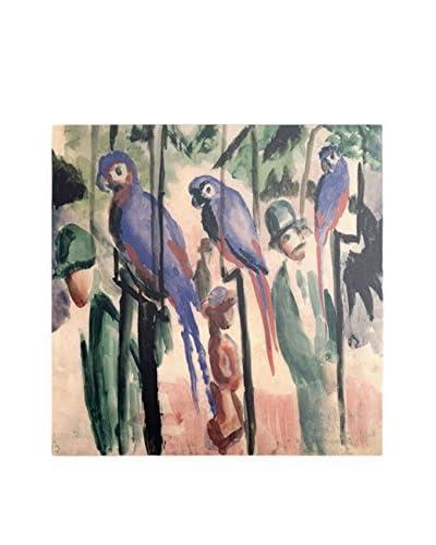 August Macke Blue Parrots Artwork