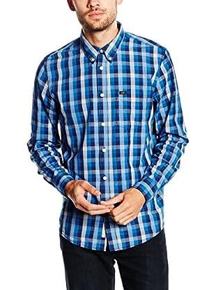 Lee Camisa Hombre Button Down Snorkel (Azul)