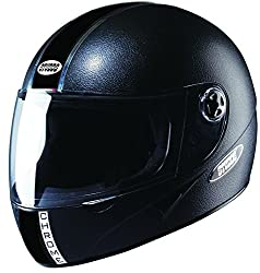 Studds Chrome Economy Full Face Helmet (Black, L)