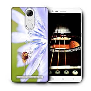 Snoogg Dragonfly In White Flower Printed Protective Phone Back Case Cover For Lenovo K5 Note