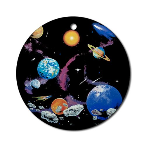 Ornament (Round) Solar System And Asteroids