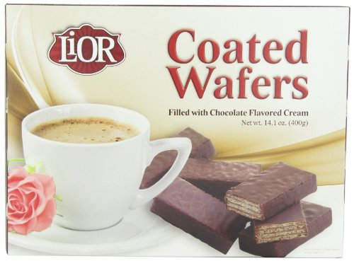 Lior Chocolate Coated Wafer, 14.1-Ounce (Pack of 6)