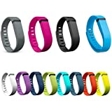 Henoda 12 Colors Replacement Bands with Clasps for Fitbit Flex Only /No Tracker (Pack of 12 Small)