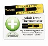 Adult Thermostrip® Fever Thermometer - Perfect for home, work and travel. Comes with cold, flu and fever information pack. New Moving Line Technology.