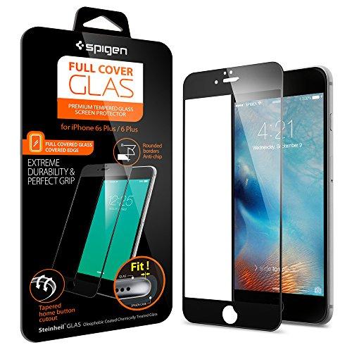 Spigen iPhone6s Plus ガラス フィルム, フルカバー グラス [ 全面液晶保護 9H硬度 發油加工 ] アイフォン6s プラス /  6 プラス 用 (ブラック SGP11636)