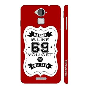 Enthopia Designer Hardshell Case Karma is like 69 - Red Back Cover for Coolpad Note 3